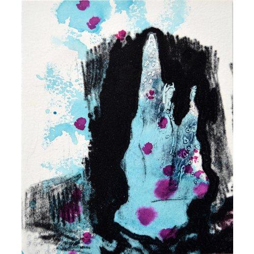 Shelley Burgoyne Fondo marino I Carborundo y punta seca - 08
