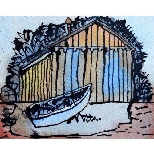 Barry Cook Hütte und Boot 017