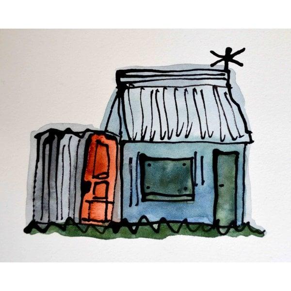 Die Hütte mit Wetterfahne 2 - 020