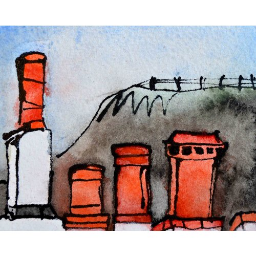 Barry Cook Four Chimney Pots  016