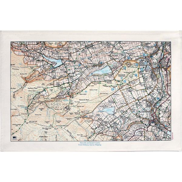 Mapa del país de Haworth y Bronte T. Toalla 05