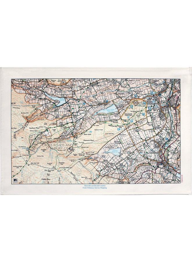 Haworth und Bronte Landkarte T. Towel 05