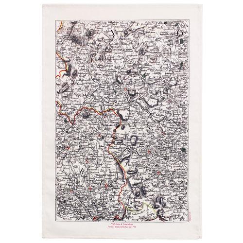 Jane Revitt Yorkshire y Lancashire 1794 Mapa T. Toalla 04
