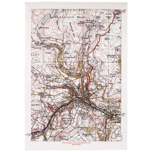 Jane Revitt Hebden Bridge Map T. Handtuch 03