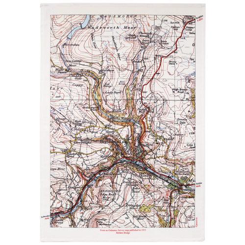 Jane Revitt Puente de Hebden Mapa T. Toalla 03