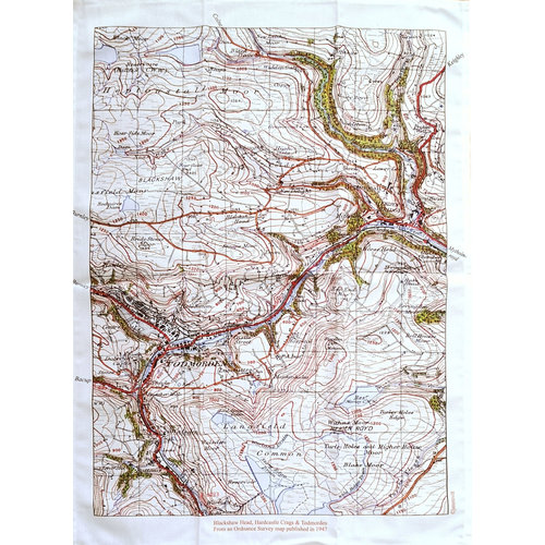 Jane Revitt Todmorden , Blackshaw Head, Hardcastle Craggs Map  1947 T. Towel 02