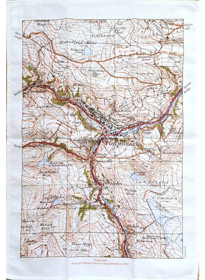 Todmorden Karte 1947 T. Towel 01