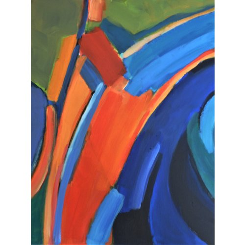 Chris Bland Reflexionen - Grün und Orange 014