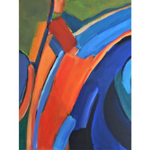 Chris Bland Reflexiones - Verde y Naranja 014