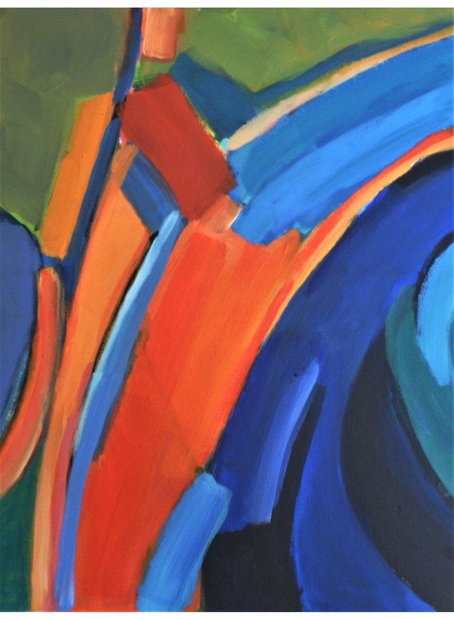 Reflexionen - Grün und Orange 014
