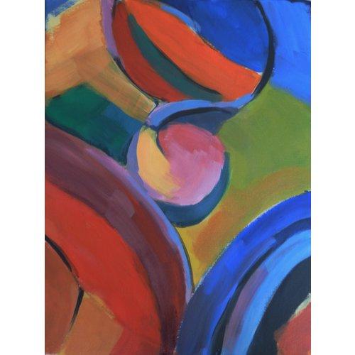 Chris Bland Reflexionen - Rosa und gelber Kreis 016
