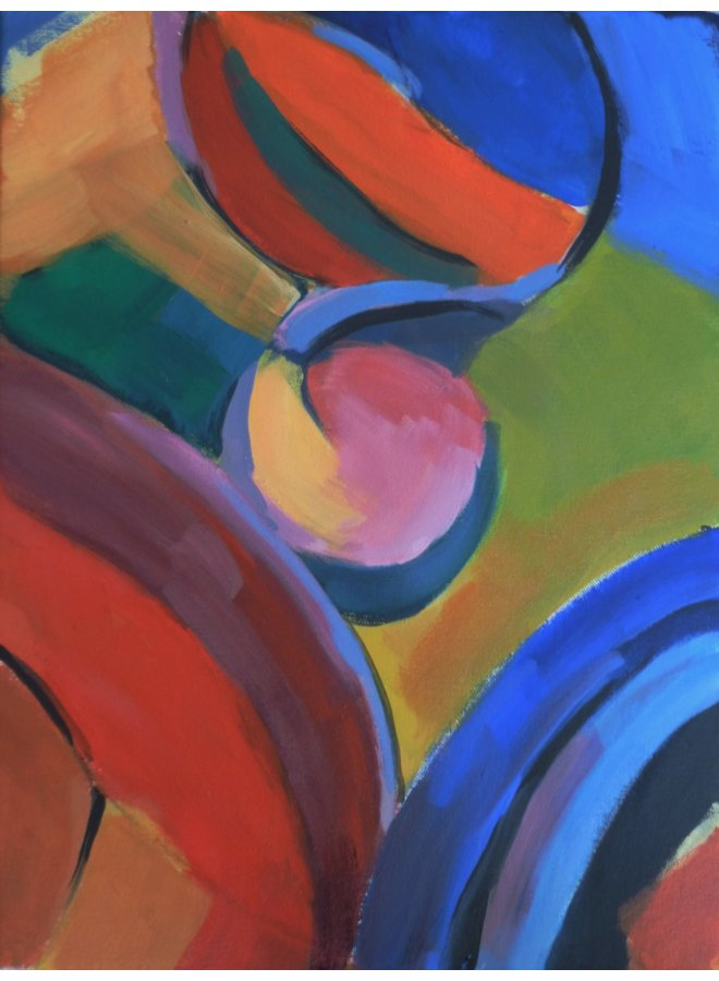 Reflexionen - Rosa und gelber Kreis 016