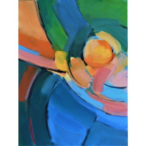 Chris Bland Reflexionen-Orange Kreis 017
