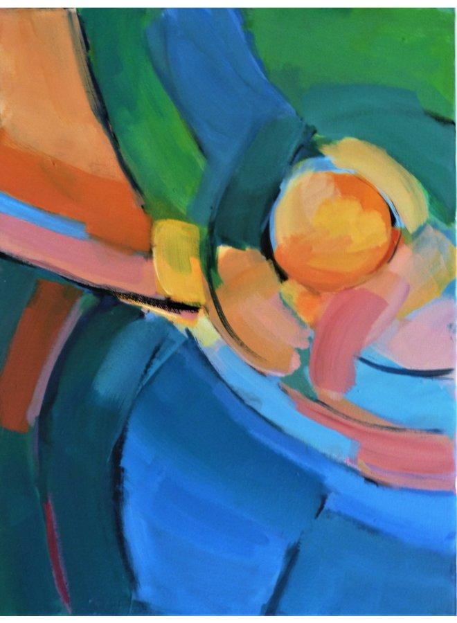 Reflexionen-Orange Kreis 017