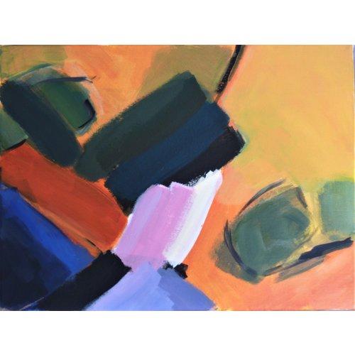 Chris Bland Reflexionen - Orange, Blau und Grün 015