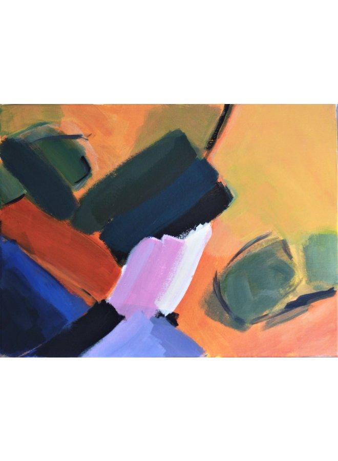 Reflexionen - Orange, Blau und Grün 015