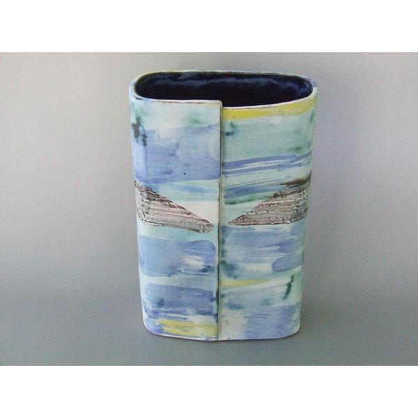Wrapped Summer Seashore Vessel  Stoneware 14