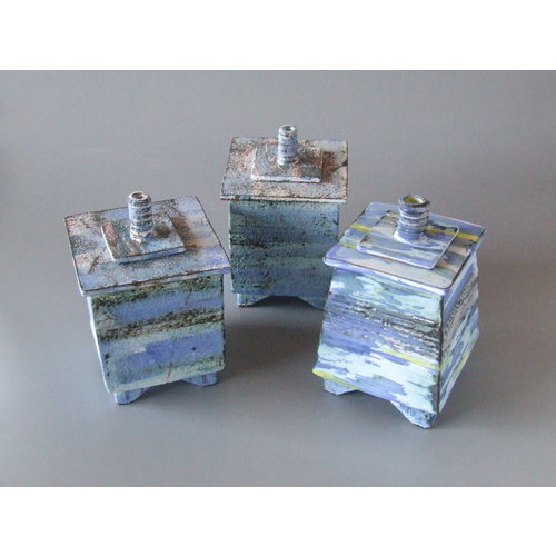 Dianne Cross Angled Blue Wash Shoreline footed box each 07