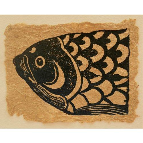 Rachel Ramirez Koinobori Linoprint -  06