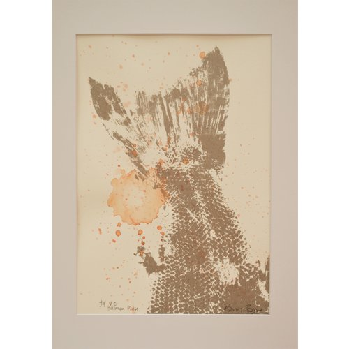 Rachel Ramirez Serigrafía Salmon Pink - acuarela - 03