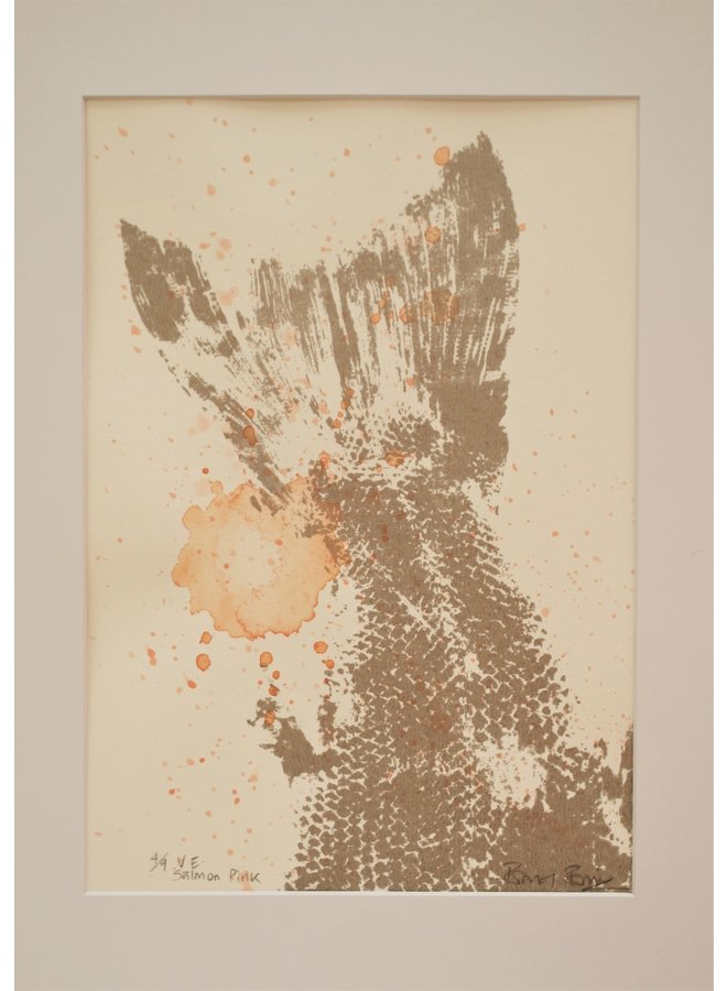 Lachsrosa Siebdruck - Aquarell - 03