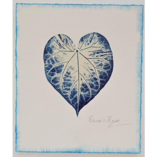 Rachel Ramirez Blue Prints for Happiness No.2  Gyotaku print- 01