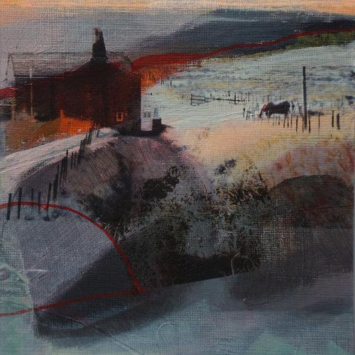 Kate Boyce Art Sonnenuntergang und Schatten Blackshawhead 29