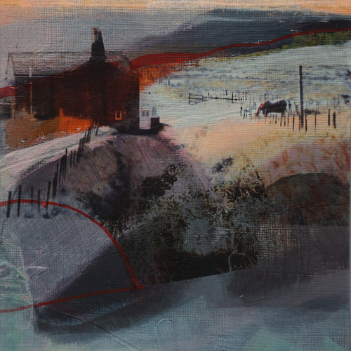 Kate Boyce Art Sunset and Shadows Blackshawhead  29