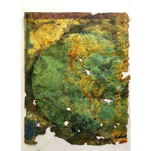 Susan Wright Tierra fracturada Monoprint y Grabado 17