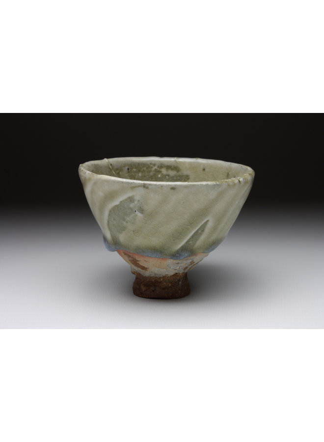 Small Cup  wood fired stoneware ash glaze 013
