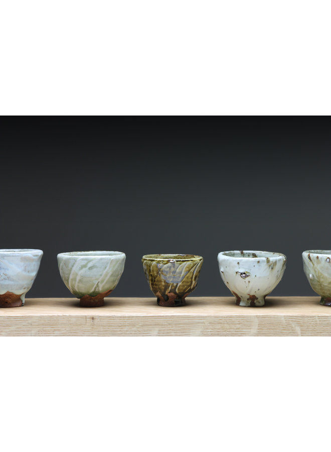Small Cup  wood fired stoneware ash glaze 020