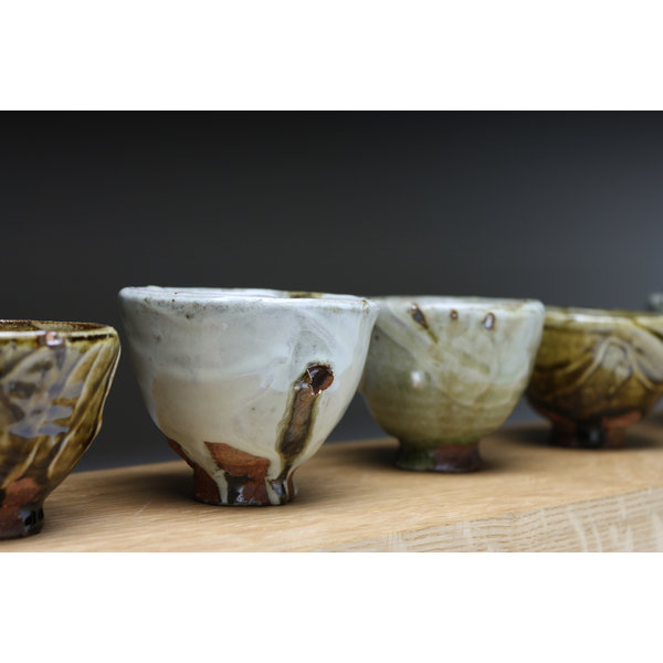 Small Cup  wood fired stoneware ash glaze 019