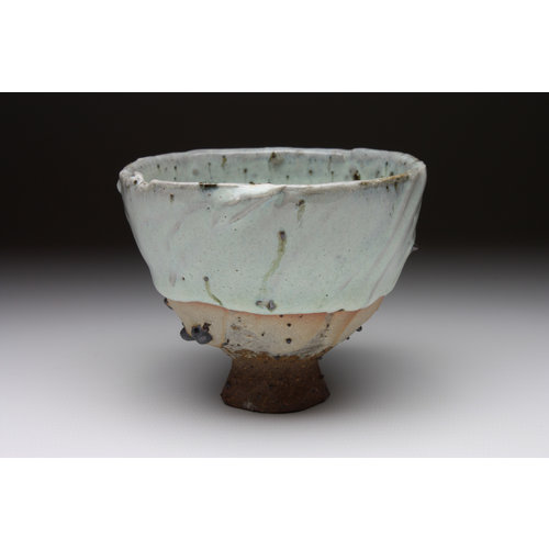 Deiniol Williams Small Cup  wood fired stoneware ash glaze 017