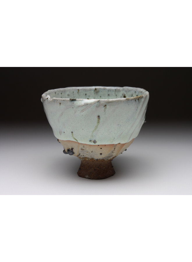 Small Cup  wood fired stoneware ash glaze 017