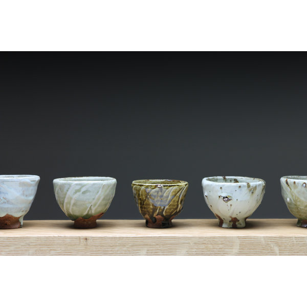 Small Cup  wood fired stoneware ash glaze 015