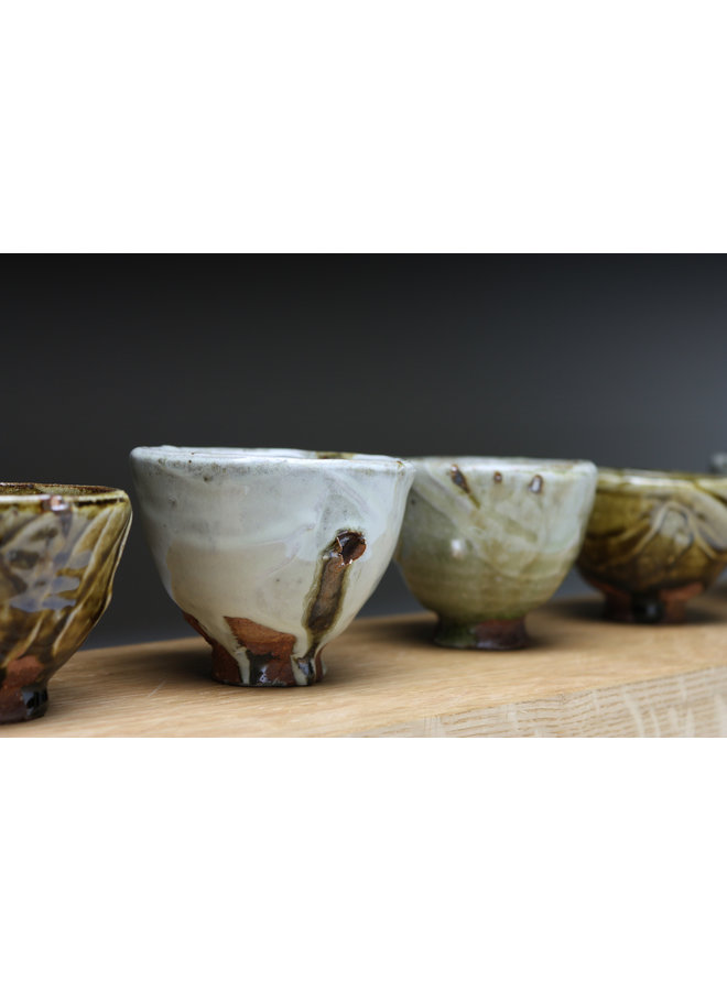 Small Cup  wood fired stoneware ash glaze 012