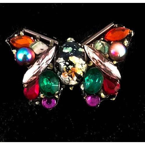 Annie Sherburne Vintage Schmetterlingsbrosche Mehrfarben 137