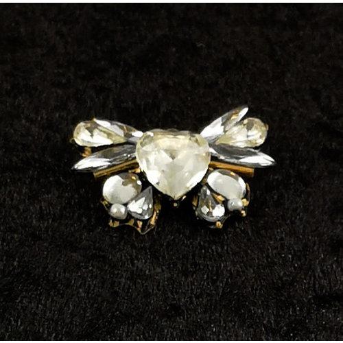 Annie Sherburne Vintage Butterfly brooch  White136