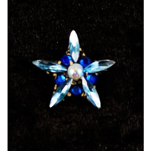 Annie Sherburne Vintage Star Brosche Blau 134