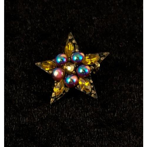 Annie Sherburne Vintage Stern Brosche Gold 133