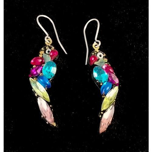 Annie Sherburne Vintage Parrot drop earrings 132