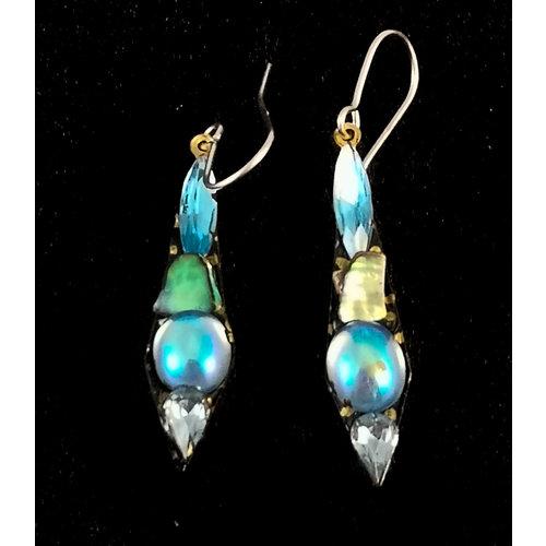 Annie Sherburne Boucles d'oreilles pendantes petites vintage 128