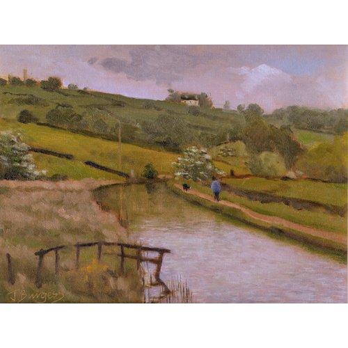 Jane Burgess Canal desde el puente, Kettle Lane Oil 009