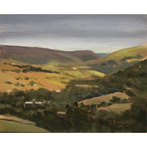Jane Burgess Blick über Harropdale Oil 008