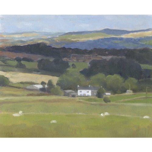 Jane Burgess Ansicht von Thurstonland Oil 006