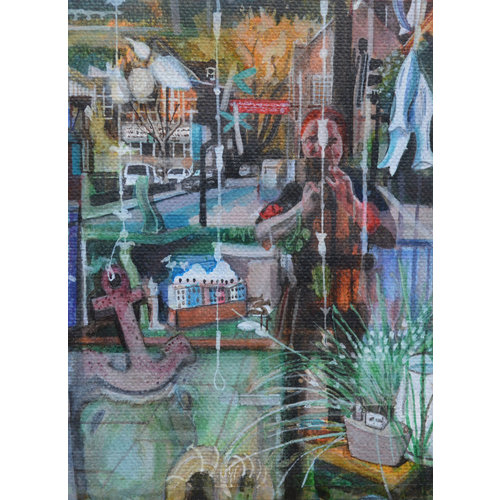 Dorothy Simister Willow Tree Reflecting Holme Street 02