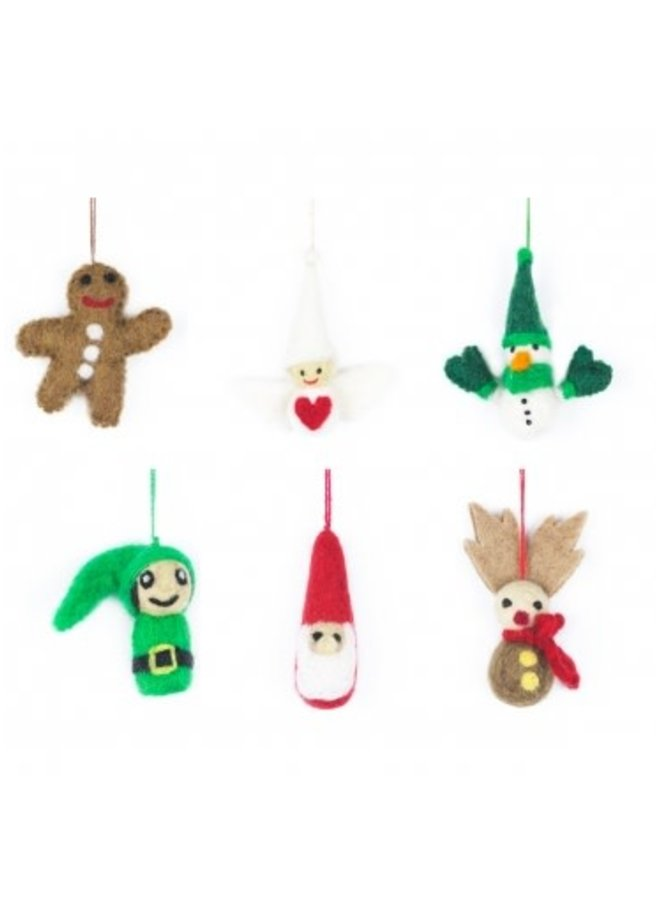 Gingerbread Man  Felt Ornament 014