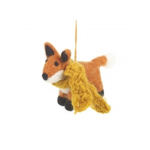Felt So Good Rusty Fox  Felt Ornament 012