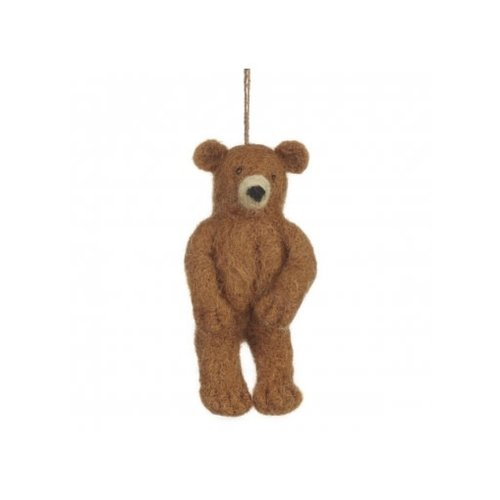 Felt So Good Grizzly Bear Felt Ornament 011
