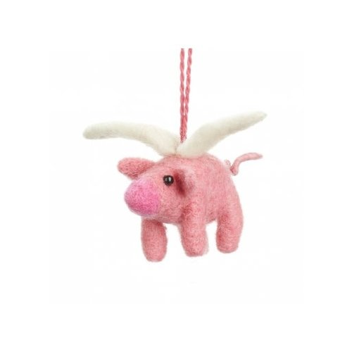Felt So Good Flying Pig  Felt  Ornament  10